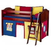 Red, Blue and Yellow Easy Rider Tent Bed in Chestnut by Maxtrix (300.1)