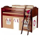 Khaki and Red Easy Rider Tent Bed in Chestnut by Maxtrix (300.1)