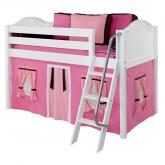 Pink and Brown Easy Rider Tent Bed in White with Curved Bed Ends (300.1)