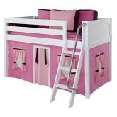 Pink and Brown Easy Rider Tent Bed in White by Maxtrix (300.1)