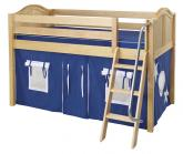Blue and White Easy Rider Tent Bed in Natural by Maxtrix (300.1)