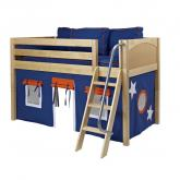 Blue and Orange Easy Rider Tent Bed in Natural by Maxtrix (300.1)