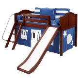 Maxtrix Blue and White WOW Tent Bed in Chestnut (320.1)