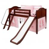 Maxtrix Pink and White WOW Tent Bed in Chestnut (320.1)