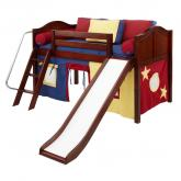 Maxtrix Red, Blue and Yellow Tent Bed in Chestnut (320.1)