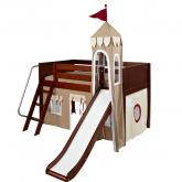 Khaki and Red Mini Castle Bed in Chestnut by Maxtrix (360)