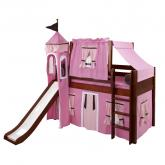 Pink and Brown Playhouse Castle Bed in Chestnut by Maxtrix (370)
