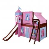 Hot Pink and Blue Playhouse Castle Loft Bed by Maxtrix (370)