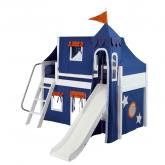 Blue and Orange Playhouse Castle Loft Bed (370)