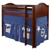 Chip Mid Size Playhouse Loft Bed in Blue and White on Chestnut by Maxtrix (400.1)