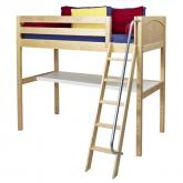 Knockout High Loft Bed with desk in Natural by Maxtrix (550)