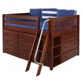 XL 3 Full Size Storage Bed in Chestnut by Maxtrix (601)