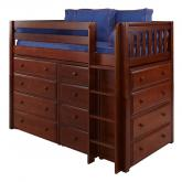 Bling Storage Bed in Chestnut by Maxtrix (630)