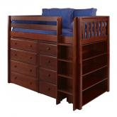 Bling 2 Storage Bed in Chestnut with Slat Bed Ends by Maxtrix (634)