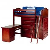 Emperor 1 L Storage Bed in Chestnut with Curved Bed Ends by Maxtrix (662)