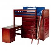 Emperor 1 L Storage Bed in Chestnut with Panel Bed Ends by Maxtrix (662)