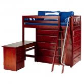 Emperor 1 L Storage Bed in Chestnut with Slat Bed Ends by Maxtrix (662)