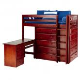 Master 1 L Storage Bed in Chestnut with Slat Bed Ends by Maxtrix (662)