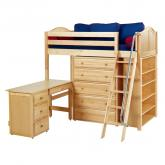Emperor 3 L Storage Bed in Natural with Curved Bed Ends by Maxtrix (668)