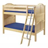 Hot Hot Low Bunk Bed by Maxtrix Kids: Natural, Curved, Twin