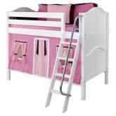 Pink and Brown Hot Hot Bunk Bed in Natural by Maxtrix (700.1)
