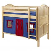 Blue and Red Hot Hot Bunk Bed in Natural by Maxtrix (700.1)