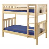 Get It Med Bunk Bed by Maxtrix Kids: Natural, Slats, Twin