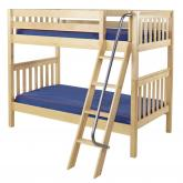 Got It Med Bunk Bed by Maxtrix Kids: Natural, Slats, Twin