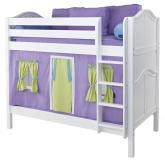 Get It Mid Size Playhouse Bunk Bed in White by Maxtrix (740.1)