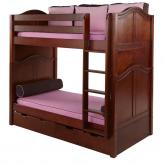 Tall High Bunk Bed by Maxtrix Kids: Chestnut, Curved, Twin