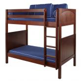 Tall High Bunk Bed by Maxtrix Kids: Chestnut, Panel, Twin