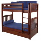 Tall High Bunk Bed by Maxtrix Kids: Chestnut, Slats, Twin