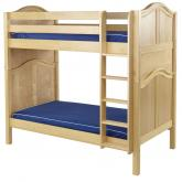 Tall High Bunk Bed by Maxtrix Kids: Natural, Curved, Twin