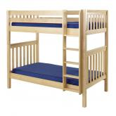 Tall High Bunk Bed by Maxtrix Kids: Natural, Slats, Twin