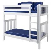 Tall High Bunk Bed by Maxtrix Kids: White, Slats, Twin