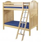 Venti High Bunk Bed by Maxtrix Kids: Natural, Curved, Twin