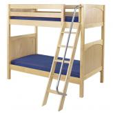 Venti High Bunk Bed by Maxtrix Kids: Natural, Panel, Twin