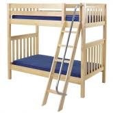 Venti High Bunk Bed by Maxtrix Kids: Natural, Slats, Twin