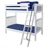 Venti High Bunk Bed by Maxtrix Kids: White, Slats, Twin