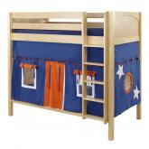 Blue and Orange Tall Playhouse Bunk in Natural by Maxtrix (780.1)