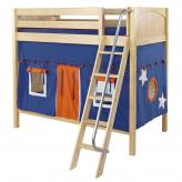 Blue and Orange Venti Playhouse Bunk in Natural by Maxtrix (780.1)