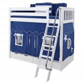 Blue and White Venti Playhouse Bunk in White by Maxtrix (780.1)