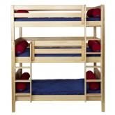 Maxtrix HOLY Triple Bunk Bed in Natural with Panel Bed Ends (850)