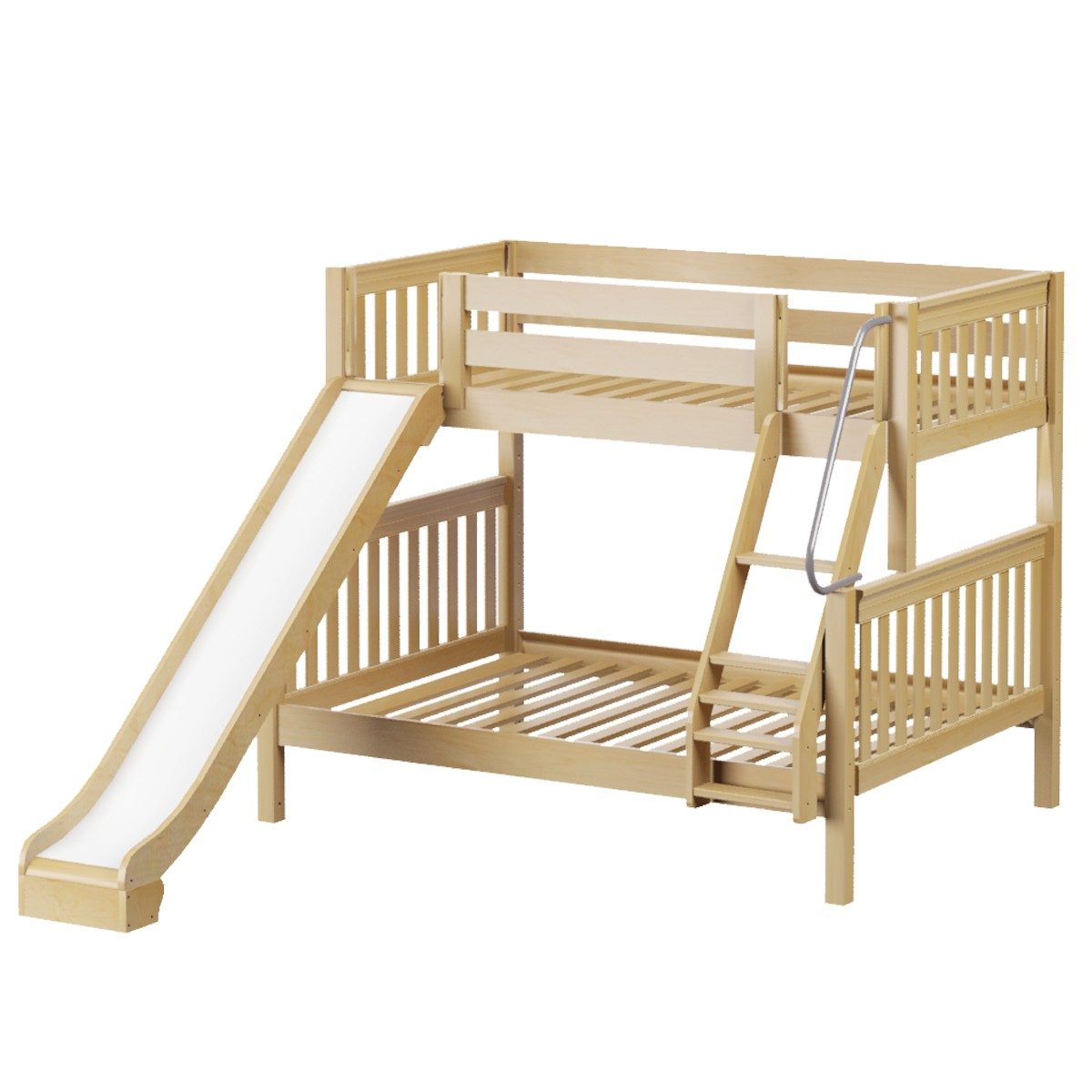 best service d0056 68c27 Slick Med ToF Bunk Bed by Maxtrix Kids: Natural, Slats, Slide