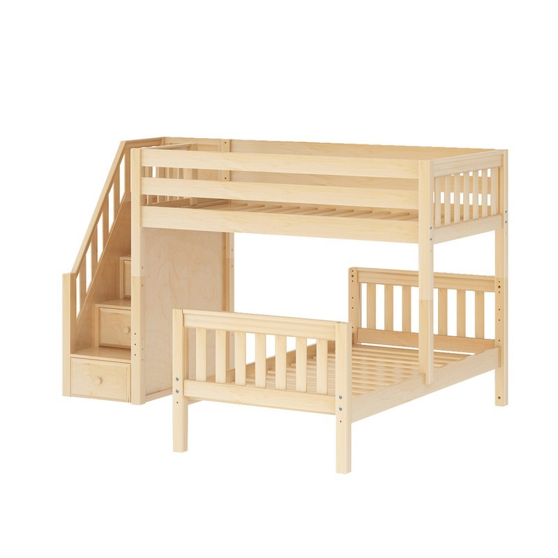 the best attitude 3e785 6af4c Wangle Parallel Bunk Bed by Maxtrix Kids: Natural, Slats, Twin