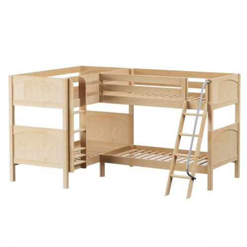 Crux NP Med High Corner Bunk by Maxtrix Kids: Natural, Panel, Twin