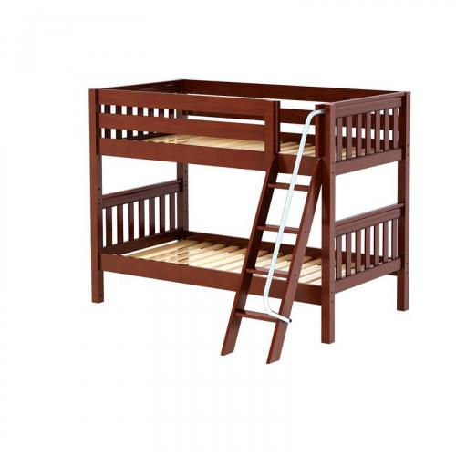 Hot Hot Low Bunk Bed by Maxtrix Kids: Chestnut, Slats, Twin Thumbnail