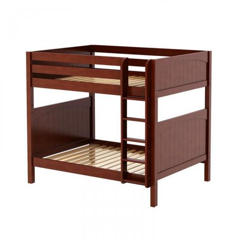 Buff High Bunk Bed by Maxtrix Kids: Chestnut, Panel, Full