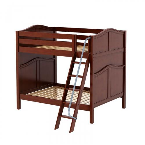 Chuff High Bunk Bed by Maxtrix Kids: Chestnut, Curved, Full