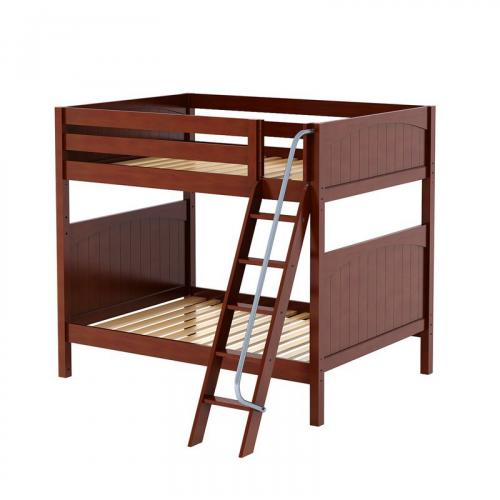 Chuff High Bunk Bed by Maxtrix Kids: Chestnut, Panel, Full